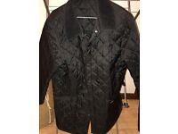 Barbour black unisex quilted jacket size small