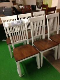 Set of six dining chairs only £65 each