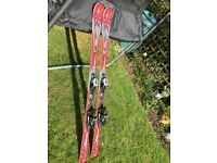 Fully waxed and serviced skis