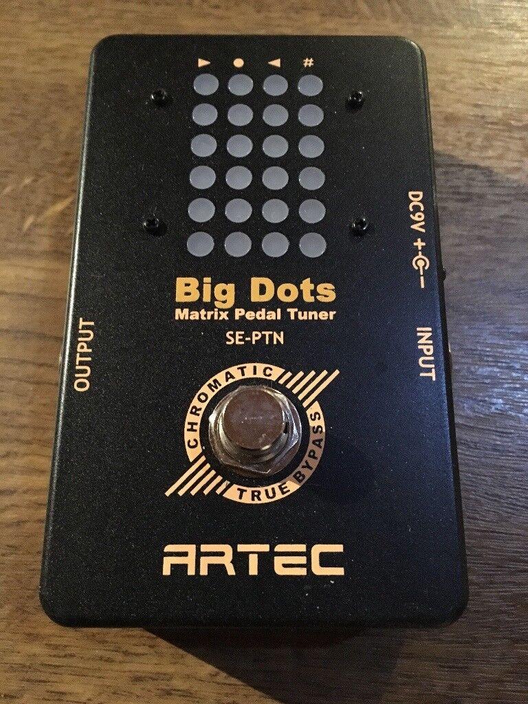 Artec Big Dots Matrix Pedal Tuner for Guitar and Bass