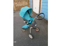 Stokke Xplory v3 Turquoise Pram Buggy Stoke Blue