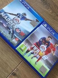 Fifa 16 Madden 16 PS4