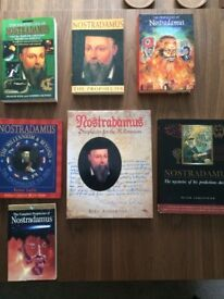 Collection of Nostradamus books, many rare