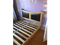 Solid hardwood bed