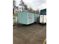 site office /storage unit 22ft towable with three windows and separate office rear entry door
