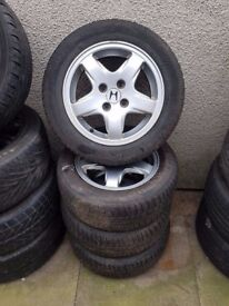 Honda Accord Civic 14'' Alloy Wheels Excellent Tyres Can Post Part Exchange Welcome
