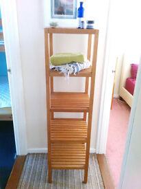 Tall Solid Wood Versatile Standalone Shelving Unit