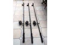 3 x Greys Aircurve 12 ft carp rods