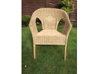 Wicker chair, vintage appeal, old school style, retro, up cycle, shabby chic project