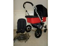 Bugaboo Cameleon Pram/Pushchair/Carrycot-Excellent Condition-Black/red & Grey
