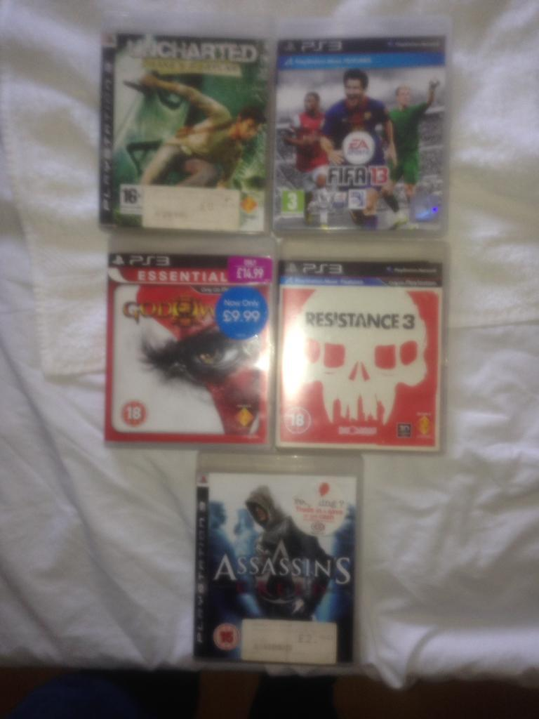 5 games for Playstation 3 PS3