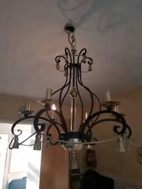 Pair of beautiful vintage chandeliers