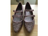 Girls glittery next shoes 2 pairs size 3