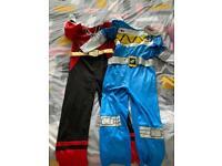 2 x power rangers costumes