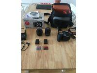 Canon 7D, boxed w/ 18-55mm lens. 2 memory cards and 2 batteries inc.