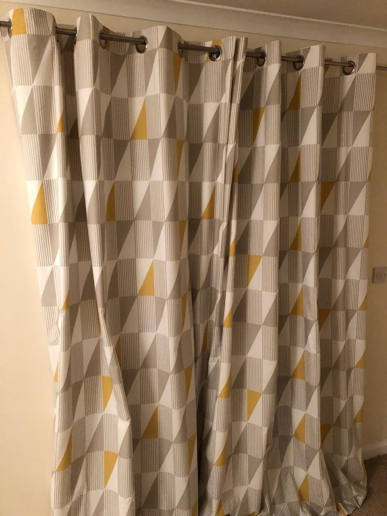 living pin room cotton vivid with geometric casual a curtain country green curtains