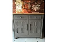 Fabulous Priory Vintage Sideboard with a Chunky Solid Pine Top Shabby Chic