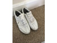 Ralph Lauren White/Grey Trainers/Sneakers/Size UK7/ US7 1/2