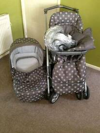 MAMAS & PAPAS all in one pushchair/moses basket