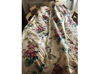 2 fully lined chintz floral curtains. 100x213cm (40x84in) excellent quality, cost £1500 new