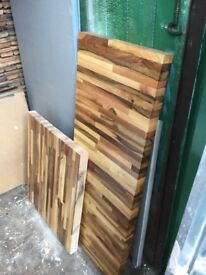 Walnut wooden work top,off cuts. Three pieces ,different sizes ,