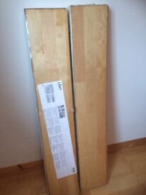 One pack of Ikea laminate flooring