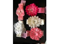 5 new flower baby head bands suitable from birth -12 months