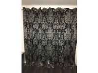 Next Curtains 228cm/229cm & cushions
