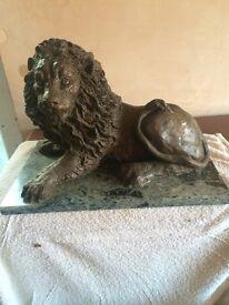 Large bronze lion