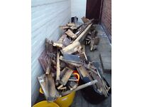 Old decking/timber for garden projects or firewood - free to good home!