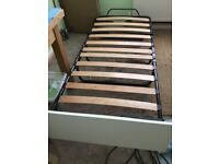 Single Folding Bed with Wooden Slates & Headboard