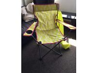Yellow patterned foldable/camping/festival chair