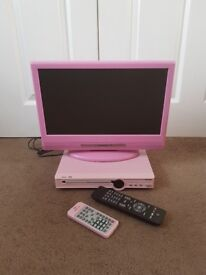 Girls TV and DVD player