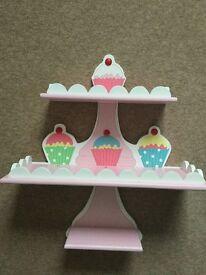 Children's bedroom cupcake shelving