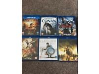 Action Swords + Sandals Blu Ray DVD's x 6