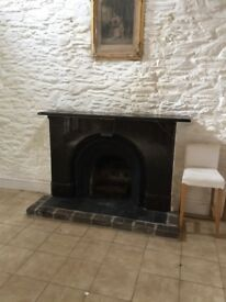 Marble Antique Fireplace - complete