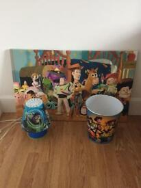 Kids toy story bedroom accessories (like new)