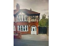 *FULLY FURNISHED* 3 BEDROOM SEMI-DETACHED PROPERTY LOCATED ON LYTHAM ROAD, MANCHESTER, M14 6PL.
