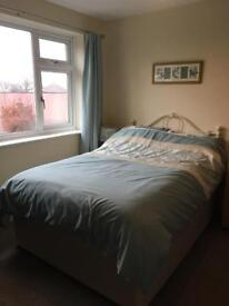 Double Divan Bed with 2 drawers and mattress +foam mattress topper