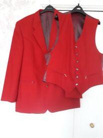Mens jacket and waistcoat