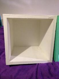 Wooden shelf boxes
