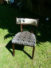 Nice set of chairs soft half leather
