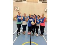 Individuals and teams wanted at Balham Wednesday netball league!