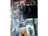Playstation 3 plus 2 controllers and all games in pic