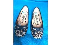 Patent leopard ballet flats size 4/37