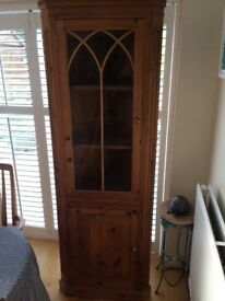 Pine Corner Cupboard, in good condition. Dimensions 1930h x 65w x 41d.