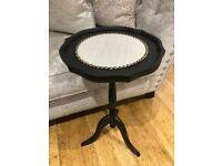 Matte black side coffee hall occasional table material and stud detailing shabby chic vintage