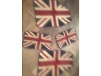 Union Jack car mats