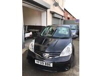 Nissan note 1.4 petrol 5 doors hatchback 5 seater family car 2009 plate