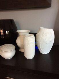 9 x genuine Kaiser Vases